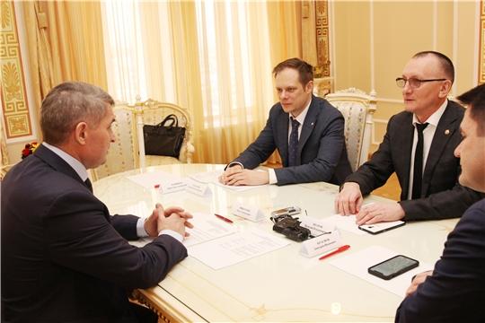 Глава Чувашии Олег Николаев встретился с замминистра спорта России Андреем Сельским