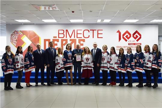 """Встреча с женской хоккейной командой """"Чебоксарские Амазонки"""""""