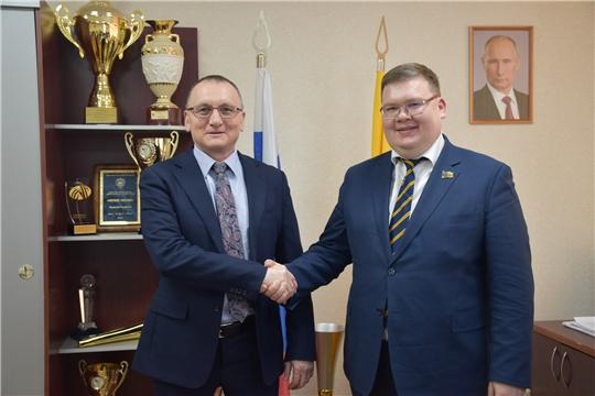 Василий Петров провёл рабочую встречу с главой города Чебоксары Олегом Кортуновым