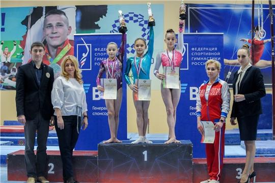 Юная чебоксарка Екатерина Андреева завоевала пять медалей на юниорском первенстве России по спортивной гимнастике
