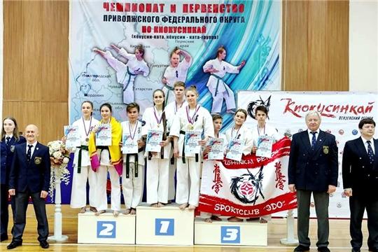 Сборная Чувашии по киокусинкай вернулась с медалями первенства Поволжья