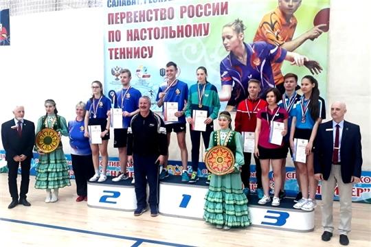 Спортсмены Чувашии – призеры первенства России по настольному теннису среди глухих