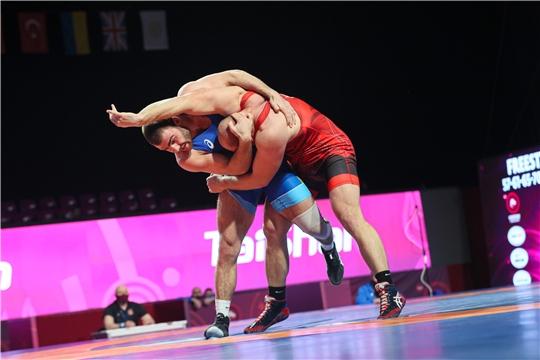 Сергей Козырев на чемпионате Европы по спортивной борьбе