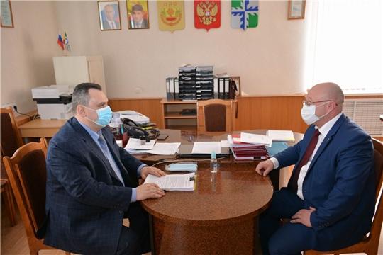 Вурнарский район посетил руководитель Госслужбы Чувашии по делам юстиции Дмитрий Сержантов