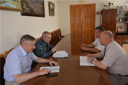 Вурнарский район с рабочим визитом посетил председатель ГКЧС Чувашии Олег Яковлев
