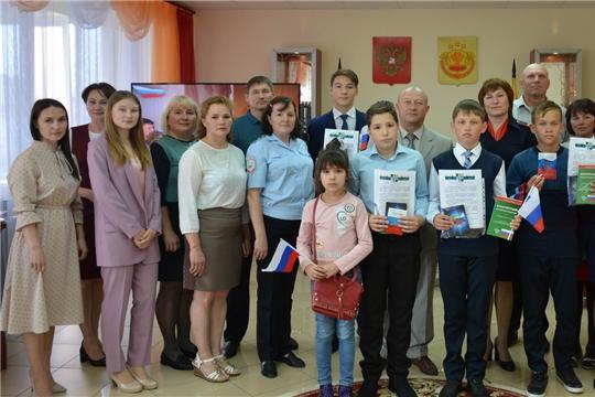 Вручение паспортов юным гражданам Вурнарского района