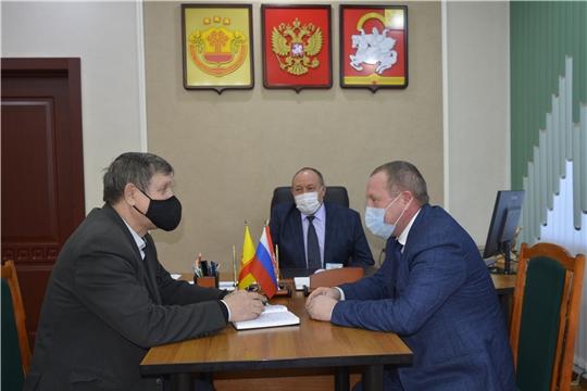 Состоялась встреча с генеральным директором Продовольственного фонда Чувашии Александром Богдановым