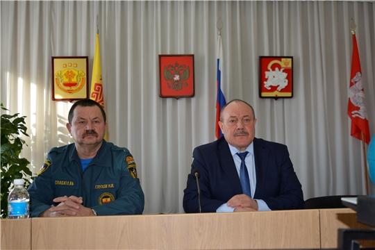 В Яльчикском районе подведены итоги работы комиссии по чрезвычайным ситуациям и обеспечению пожарной безопасности за 2020 год