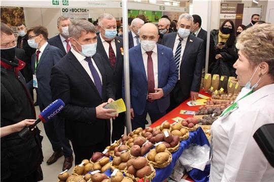 В Чувашии открылась XIII межрегиональная отраслевая выставка «Картофель-2021»