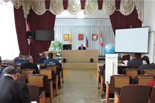 Состоялось совместное заседание противопаводковой комиссии и комиссии по предупреждению и ликвидации чрезвычайных ситуаций и обеспечению пожарной безопасности Яльчикского района