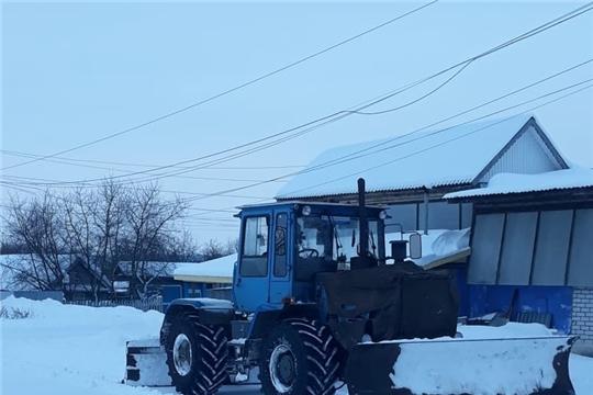 В Цивильском районе устраняют последствия  снегопада