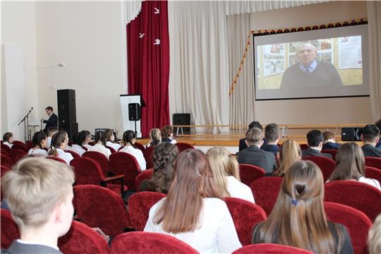 Ученики Цивильской СОШ №1 приняли участие  во Всероссийском  Уроке Мужества «Стоявшие насмерть»