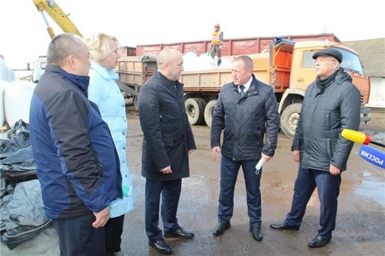 Министр сельского хозяйства Чувашии Сергей Артамонов посетил Цивильский район