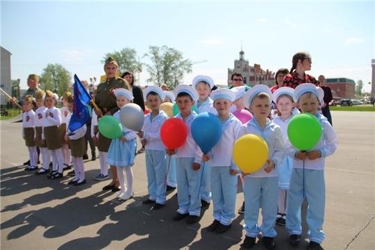 В Цивильском районе прошел парад дошколят «Правнуки Победы»