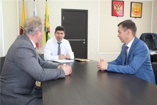 Цивильский район с рабочим визитом посетил руководитель Государственной ветеринарной службы Чувашской Республики Константин Викторов