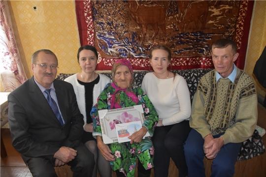 Долгожительница деревни Верхние Куганары Павлова Евдокия Павловна отметила 90-летний юбилей