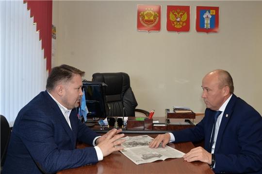 Рабочая встреча с генеральным директором- главным редактором газеты «Советская Чувашия»