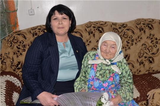 Жительница д. Татмыш-Югелево  Лидия Егоровна Царева отметила вековой юбилей!