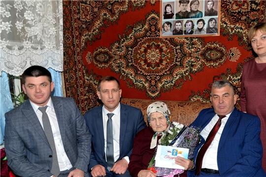 Жительница с. Алманчиково Батыревского района Александра Андреевна Мышова отметила 100-летний юбилей