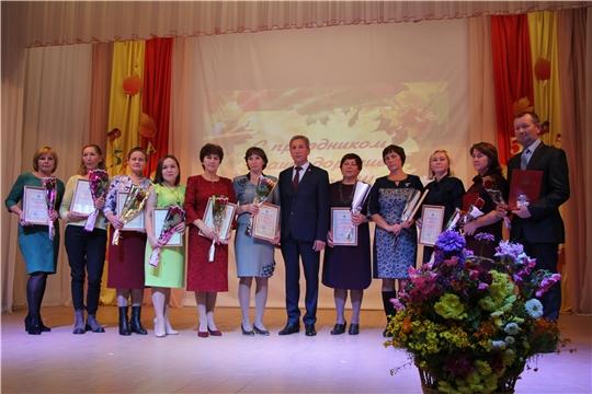 В Чебоксарском районе чествовали учителей и работников дошкольного образования