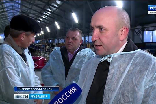 Студенты Чувашской сельхозакадемии побывали на молочной ферме в Чебоксарском районе