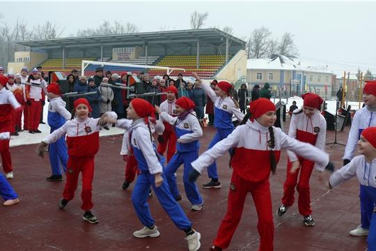 В Чебоксарском районе состоялось торжественное открытие спортивной площадки для сдачи норм ГТО