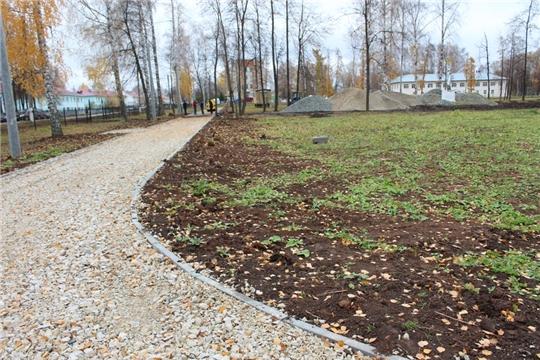 В Урмарском районе завершаются работы по благоустройству территорий в рамках национального проекта «Жилье и городская среда»
