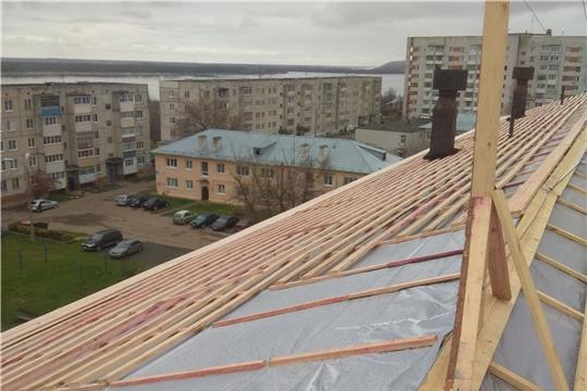 В Чувашии продолжаются работы по капитальному ремонту общего имущества в многоквартирных домах