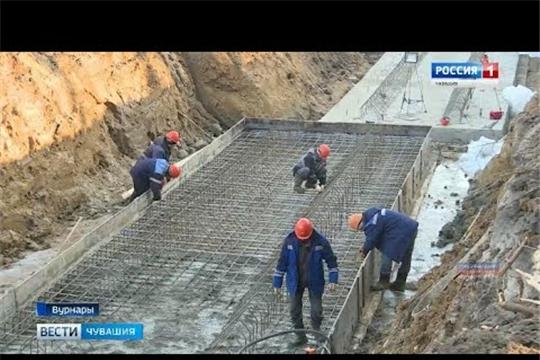 В Вурнарах продолжается строительство биологических очистных сооружений