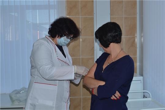 В Алатырской центральной районной больнице проходит прививочная кампания против гриппа