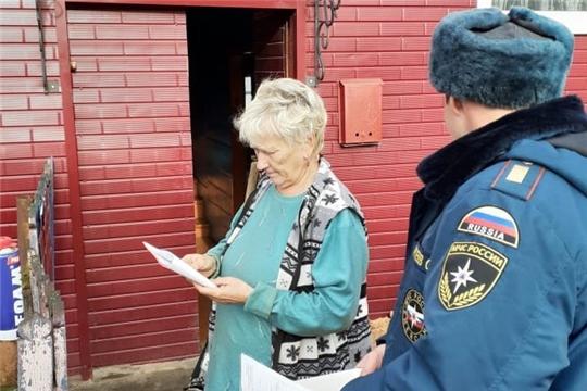 Жителям Алатыря продолжают напоминать о правилах пожарной безопасности