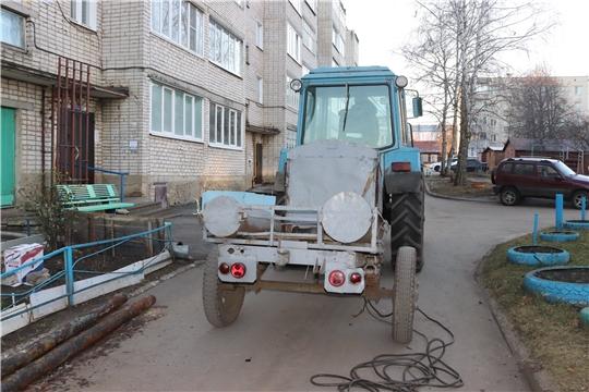 г. Алатырь: теплотрассу, ведущую к дому №136 по улице Ленина, ремонтируют