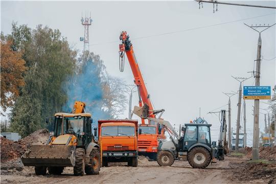 На проспекте Ивана Яковлева продолжается масштабная реконструкция