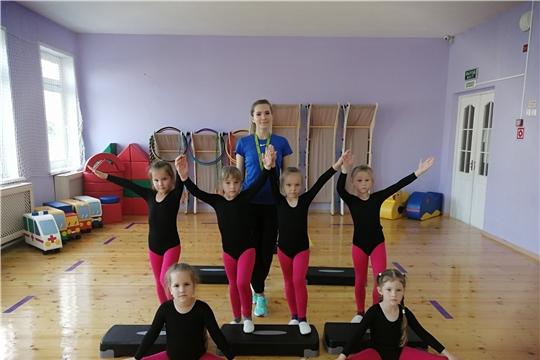 Чебоксарские дошкольники – активные участники муниципального проекта «Первый шаг в фитнес-класс»