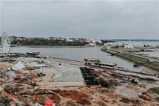 Иван Моторин и Алексей Ладыков проверили ход работ на объектах реконструкции и благоустройства в Чебоксарах