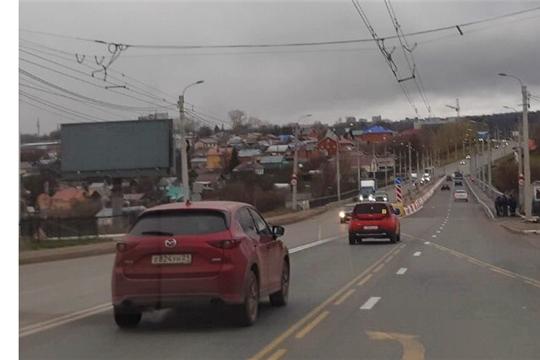 С 29 октября движение по Сугутскому мосту в Чебоксарах организовано в четыре полосы