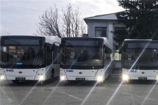 В Чебоксары прибыли 8 новых автобусов