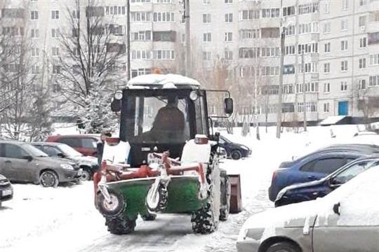 Управляющие организации Московского района г. Чебоксары приступили к уборке снега