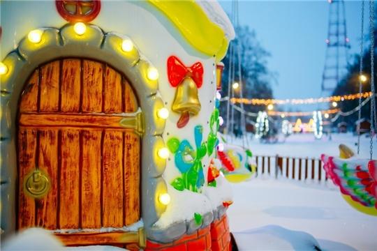 В первый день зимы в детском парке имени космонавта А.Г. Николаева открылся Дом Снеговика
