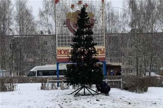 В Ленинском районе г.Чебоксары завершается новогоднее оформление