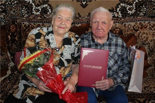 Железная свадьба супругов Зайцевых Николая Степановича и Розы Петровны