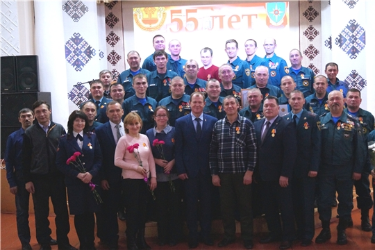 55-лет со дня образования ПЧ-37 по охране с.Моргауши противопожарной службы МЧС Чувашии