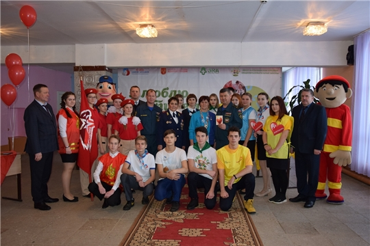 Начальник противопожарной службы МЧС Чувашии Герман Михайлов на Международном дне добровольца в Алатырском районе