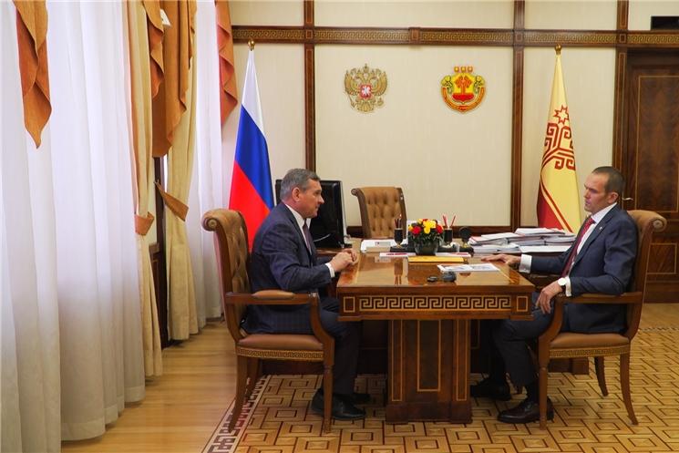 Глава Чувашии встретился с ректором ЧГПУ имени Яковлева Владимиром Ивановым