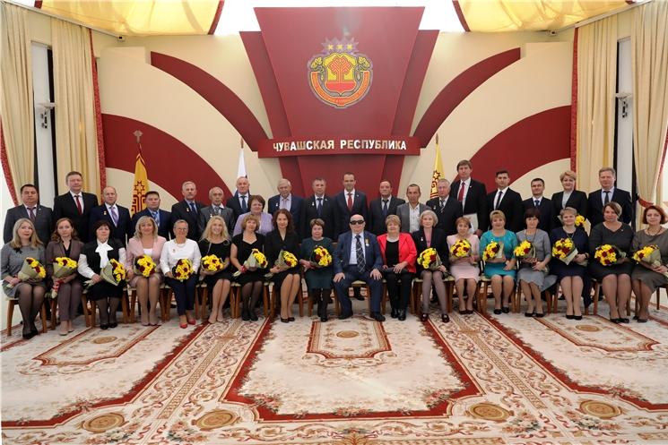 Глава Чувашской Республики Михаил Игнатьев вручил государственные награды