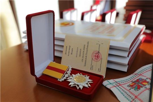 Церемония вручения государственных наград Российской Федерации и Чувашской Республики