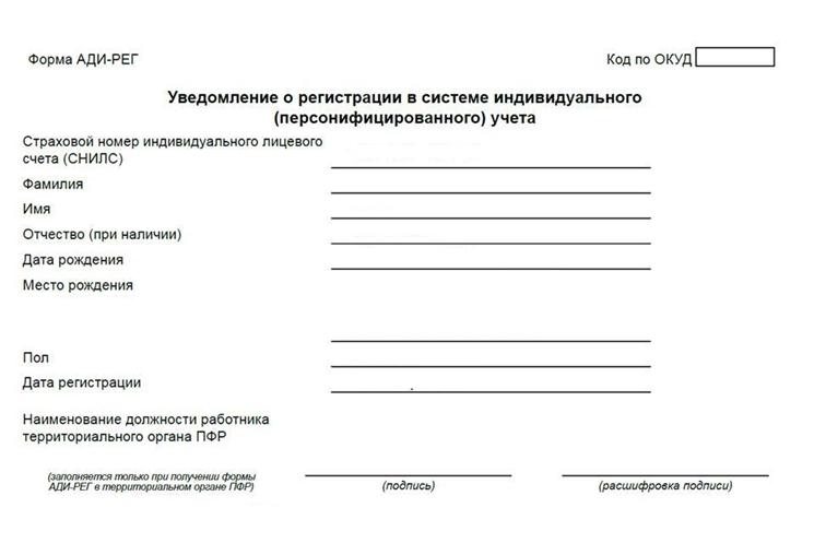 Вместо «зеленой карточки» СНИЛС – бумажное или электронное уведомление