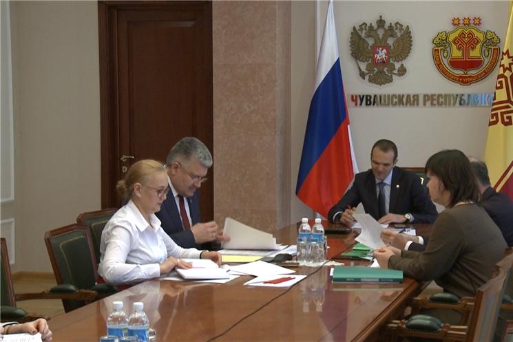 Обсуждение национальных проектов с Дмитрием Медведевым.