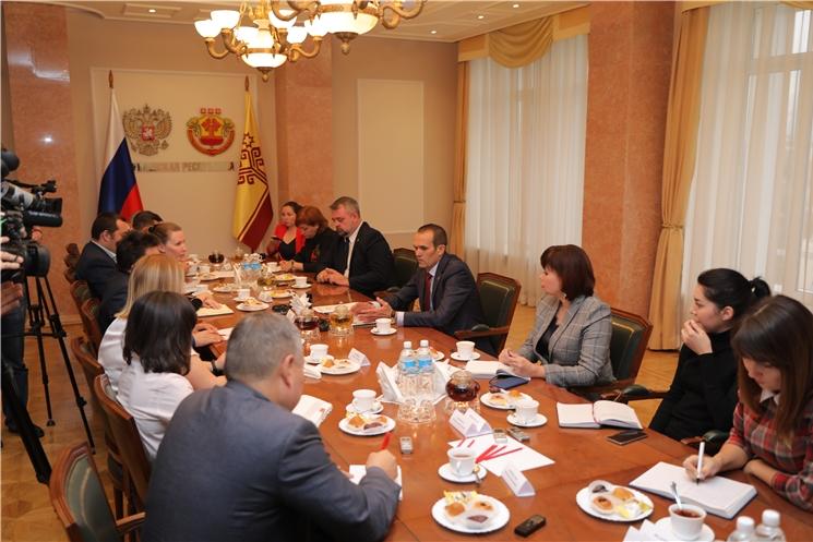 Глава Чувашии Михаил Игнатьев встретился с журналистами ведущих изданий республики