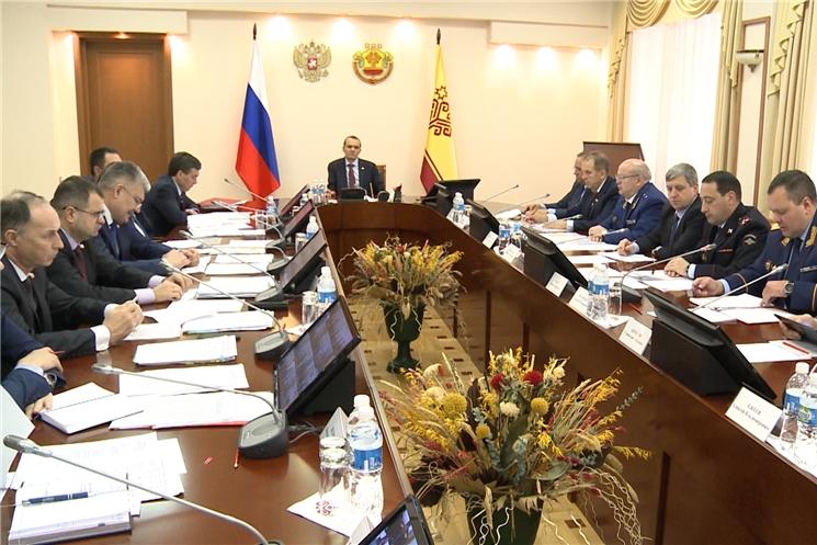 Глава Чувашии провел заседание Координационного совещания по обеспечению правопорядка в Чувашской Республике